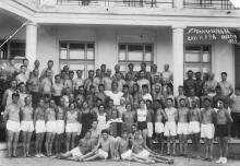 Утренняя зарядка. Санаторий НКВД. Одесса. 1939 г.