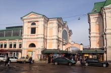 Новый базар. Вход с Торговой угол Коблевской. Фото Е. Волокина. 26 марта 2018 г.