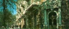 Готель «Червоний». Фото Р. Папік,яна на листівці з комплекту «Одеса». 1982 р.
