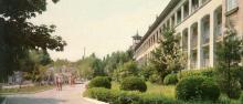 Санаторій «Молдова». Фото Р. Папік,яна на листівці з комплекту «Одеса». 1982 р.