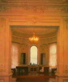 Інтер,єр Будинку вчених. Фото Р. Папік,яна на листівці з комплекту «Одеса». 1982 р.