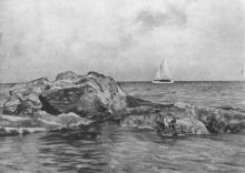 Одеса. Вид на море. Фото на поштовій листівці з комплекту «Одеса». 1955 р.