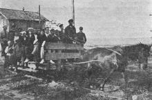 Одесса. На Куяльницком лимане (перевозка больных). Фото в путеводителе 1925 г.