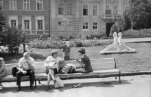 Одесса. Выставка скульптур на ул. Ласточкина. Фото ГАОО. 1981 г.