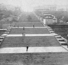 Бульварная (Потемкинская) лестница, фотография (по дате на паспарту) 1898 г.