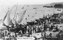 Одесса, Ланжерон, пляж. Конец 1940-х гг.