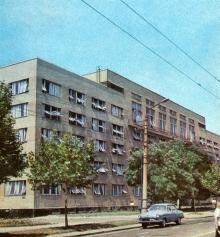 Здание института «Черноморниипроект». Фото в брошюре «В Одессе научной». 1976 г.