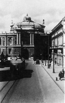 Открытка «Государственный театр Оперы и Балета», фотограф Н. Боде, 1938-е годы