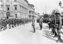 Германские солдаты на Николаевском (Приморском) бульваре, июнь, 1918 г.