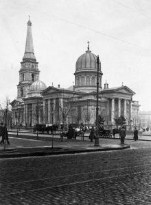 Вид на Кафедральный собор с ул. Преображенской, 1917 г.
