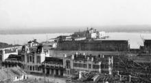 Одесса. Вид на Приморскую улицу, порт и Новый мол. Оккупация, 1942–1943 гг.