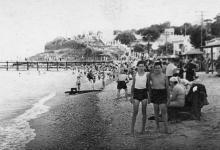 Пляж на 16-й станции Большого Фонтана. 1960-е гг.