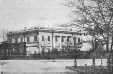Дворец графа Воронцова (в конце Николаевского бульвара). Фотография в книге «Одесса. 1794–1894». 1894 г.