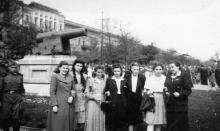 Одесса. Перед памятником «Пушка». Начало 1960-х гг.