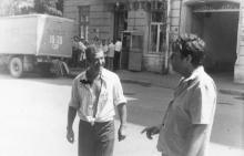 Одесса. Возле дома № 17 по ул. Свердлова. 1970-е гг.