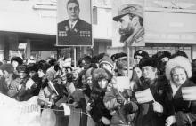 Встреча Фиделя Кастро Рус в Одесском аэропорту. г. Одесса, 1 марта 1981 г. (7303)