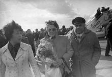 Встреча артистов Варненской оперы, приехавших на гастроли в Одессу. Одесса 1975 г. Сидорский (4280)