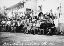 Пионерский лагерь Одесского радиозавода (в будущем — «Нептун») в Аркадии. 1957 г.