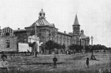 Дом инвалидов по Старопортофранковской улице (ул. Мечникова, 53). Фотография в книге «Одесса. 1794–1894». 1894 г.