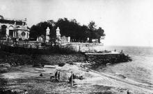 Одеса. Пляж «Аркадія». Поштова картка, 1933 р.