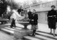 Вход в «Зеленый театр» в парке им. Т.Г. Шевченко. 1950-е гг.