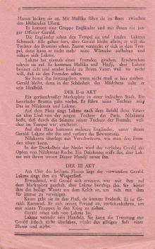 Одесский театр оперы и балета. 6-я стр. программки спектакля «Лакме». 1942–1943 гг.