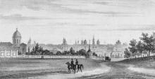 Одесса. Вид, снятый с площади за Михайловским монастырем