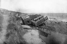 Одесса. Последствия оползня в Отраде, май, 1918 г.