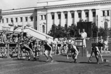 Одесса. На стадионе ОДО. 1950-е гг.