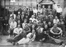 Группа рабочих литейного цеха завода им. Хворостина. Одесса, 1929 г.