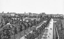 Одесса. Александровский парк. Литография