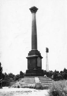 Одесса. Колонна в парке Шевченко. Фото Геннадия Калугина. 1966 г.