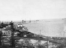 Одесса. Вид на порт. 1960-е гг.