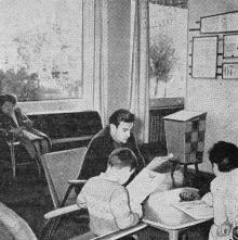 Одесса. Гостиница «Аркадия». Вестибюль для отдыха. Фото в справочнике «Будьте, как дома», 1969 г.