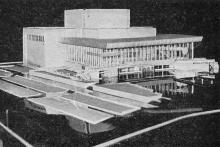 Таким будет новое здание Одесского театра музкомедии. Фото в справочнике «Будьте, как дома», 1969 г.