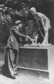 Одесса. Скульптура в «Детском секторе» парка Шевченко, 1950-е гг.