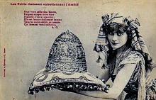 Выпускавшиеся во Франции посвященные скандалу с «Тиарой Рухомовского» юмористические открытки