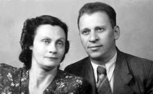 Н.И. Корченова и К.Б. Корченов. 1950 г.