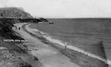 Люстдорф. Пляж. Одесса. На обороте штамп «Почтовая карточка». 1934 г.