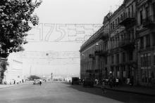 Одесса. Вид с площади Карла Маркса на памятник Дюку. Фото Геннадия Калугина. 1969 г.