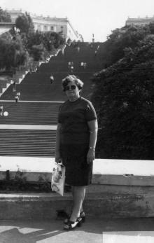 Одесса. На фоне Потемкинской лестницы. 1978 г.