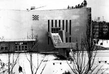 Одесса. Кинотеатр «Звездный». Фото Юрия Николаевича Тихонова. Январь, 1977 г.
