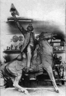 Скульптор Б.В.Эдуардс в своей мастерской