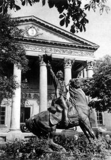Памятник А.В. Суворову в Одессе. 1940-е гг.
