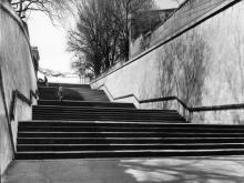 Одесса. Подпорные стены и лестница Ланжероновского спуска. 1980-е гг.
