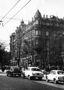 Одесса. Дерибасовская улица, вид на дом Либмана. 1980-е гг.