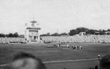 Одесса. На стадионе «Пищевик». 1950-е гг.