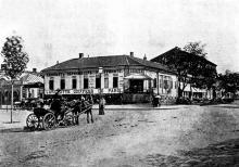 Дерибасовская угол Екатерининской, 1870-е годы