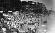 На пляже «Золотой берег». 1960-е гг.