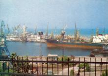 Одесса. Морской порт. Фото П. Шраго. Комплект открыток «Одесса». 1990 г.
